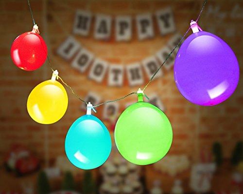 LED Leuchtende Luftballons Lichterketten, Premium Mixed-Farben Flashing Party Lichterketten, Batteriebetrieben, Ideal für Partys, Geburtstage und Hochzeitsdekorationen, mit Helium befüllbar, Luft