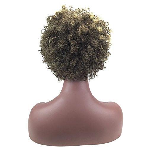 Beliebte Staat Kostüm Von - kashyk Damen Europa und die Vereinigten Staaten Perücken weibliche Schwarze Mode Kurze Haare afrikanische Haare für Halloween, Fasching, Karneval, Party, Kostüm Cosplay