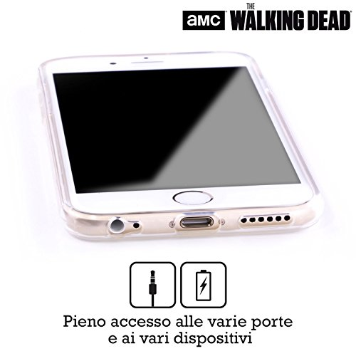 Offizielle AMC The Walking Dead Überleben Glas Typografie Soft Gel Hülle für Apple iPhone 6 Plus / 6s Plus Do Not Open