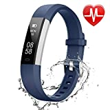 Lintelek Fitness Tracker, Slim Sports Activity Tracker with Heart Rate monitor, Step Counter,Sleep