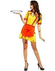 Halloween Zombie Horror Blutige Zimmermaechen Hausmaechen Kellnerin Dienstmaechen Kostuem KARNEVAL Faschingkostuem