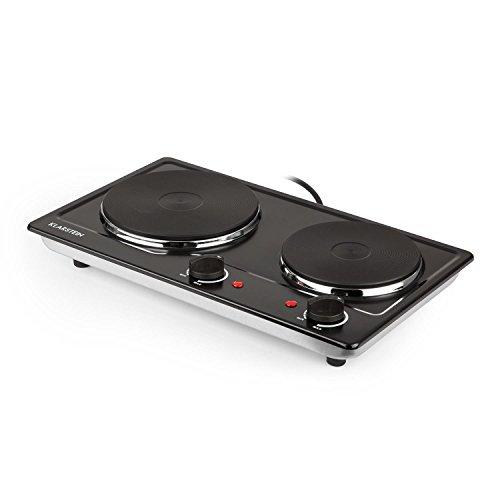 Klarstein Cookomaniac Cocina eléctrica • 2 fogones con reguladores de temperatura gradual...