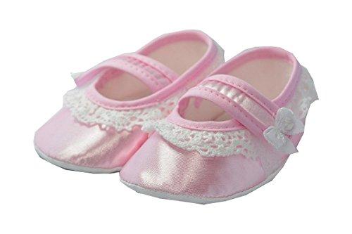 Lafel Festliche Babyschuhe/Taufschuhe Zoe - Ballerinas Rosa (12)