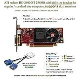ATI Radeon HD 2400XT 256MB low profile graphics card full size bracket DMS-59 to dual VGA adapter DMS-59 to dual VGA adapter 2-full size bracket