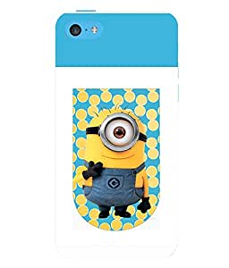printtech Minions Hi Back Case Cover for Apple iPhone 5C
