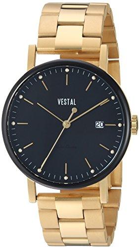 Vestal 'Sophisticate 36 Metal' Swiss Quartz Stainless Steel Dress Watch, Color:Gold-Toned (Model: SP36M13.3GVX)