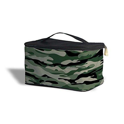 militaire de camouflage étui de rangement de Cosmétique – Maquillage à fermeture Éclair Sac de voyage, Polyester, Green, One Size Cosmetics Storage Case