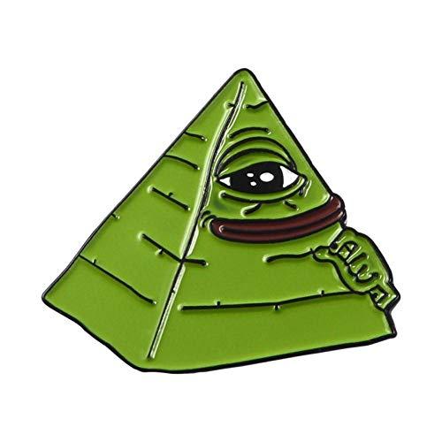 Kostüm Trinken Verwandte - JTXZD Brosche 11 Arten Pepe der Frosch Meme Emaille Pins Schießen Pyramide Denken Trinken Lustige Tierbroschen Abzeichen s für Freunde