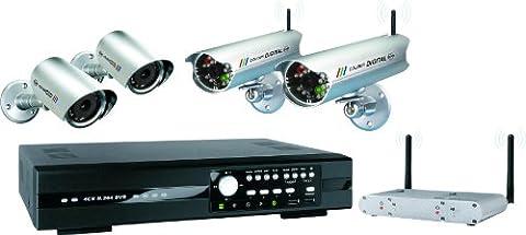 ELRO 4-Kanal Video-Überwachungsset inklusive 4 Kameras, DVR534W