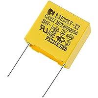 Pacco 3 sourcing map Condensatore a Film 100V DC 12uF assiali Rotondi condensatore a Film Polipropilene per Audio divisore Giallo