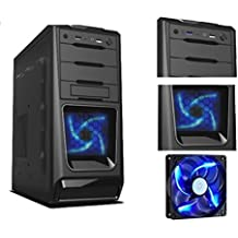 PC DESKTOP INTEL QUAD CORE CASE ALANTIK BLUE CASC02 CON