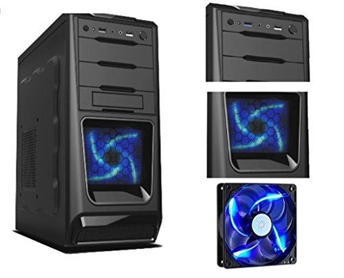 PC DESKTOP INTEL QUAD CORE CASE ALANTIK BLUE CASC02 usato  Spedito ovunque in Italia