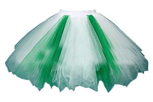 Honeystore Damen's Tutu Unterkleid Rock Abschlussball Abend Gelegenheit Zubehör Grün und - Besten Halloween-kostüme Am Baby