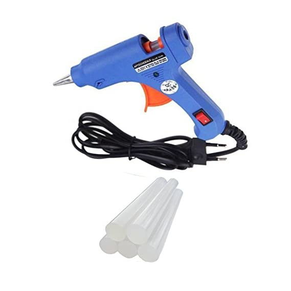 ApTechDeals 20W Hot Melt Mini Glue Gun with 5 Sticks for Arts and Crafts, Household Sealing, Toys, Repairs and DIY Projects