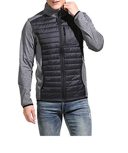 Eono Essentials, giacca ibrida imbottita Dupont Sirona Eco, da uomo, colore nero, taglia L