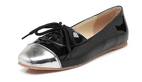 Pompe Lace up Piatto Rosso Nero Beige eleganti punta rotonda donne comode Casual Shoes Semplice Dimensione Europa standard 34 35 36 37 38 39 40 41 42 43 beige