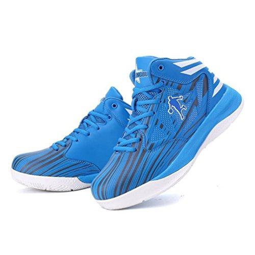 Männer/Frauen Sneakers 2018 Herbst/Winter Neue High-Top- Rutschfeste/Verschleißfeste Casual Sportschuhe Liebhaber Laufschuhe (Farbe : Blau, Größe : 42)