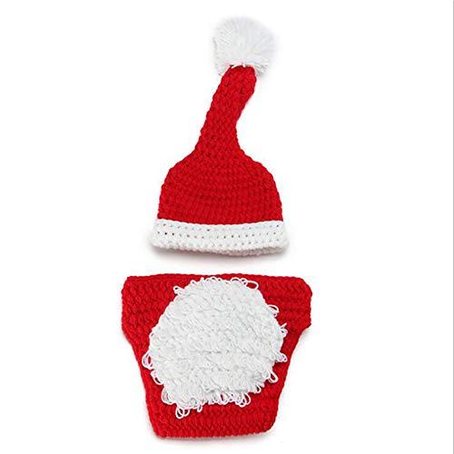 Weihnachten Baby Strickanzug Kinder Strickmütze Plus Windel Cover (2Er Set) Fotografie Set