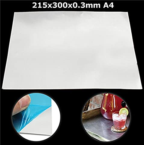 ILS - 215mm x 300mm x 0.3mm Aluminum Alloy Crafts Tool Metal Shim Plate A4 For Die Cutting