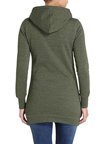 DESIRES Derby Long Damen Sweatjacke Kapuzen-Jacke Zip-Hoodie aus hochwertiger Baumwollmischung Climb Ivy (8785)