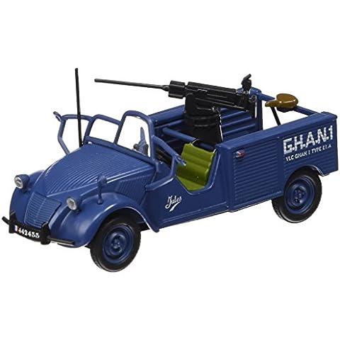Promocar - G1719032 - Vehículo Ready - Modelo para la escala - Citroën 2 CV - Jules Máquina del arma del ejército - Escala 1/43