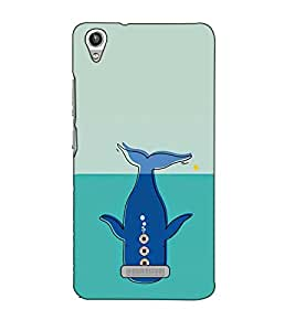 Fuson Designer Back Case Cover for Lava Pixel V1 (A dolphin cartoon theme)