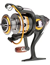 DIAODELAI 11BB 11 Roulements a billes Spool Reel Spinning 4000 Serie Carpe Aluminium Moulinet 5.2: 1 Treuil de Peche Fishing Reels DK4000 OS323