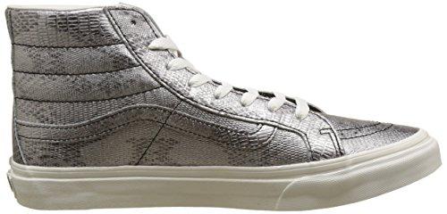 Vans Unisex-Erwachsene Sk8-Hi Slim Hohe Sneakers Mehrfarbig ((Disco Python) Black/Blanc De Blanc)