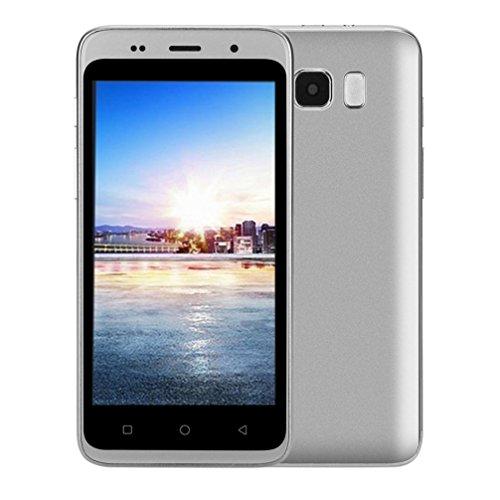 Smartphone, Yuland 5 'Android 4.4 Octa-Kern 1G + 8G 2G / GSM WiFi Doppel-SIM Bluetooth freigesetzter Handy Android, Doppel-Smartphone (Silber)