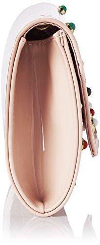 Swanky Swans - Valencia Patent Leather Clutch, Pochette da giorno Donna Rosa (Pink)