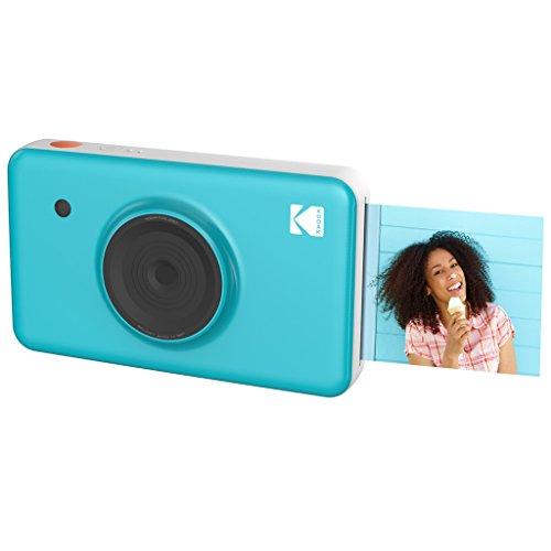 Kodak Mini SHOT Impresiones inalámbricas de 2x3 pulgadas con 4 PASS Tecnología de impresión patentada Cámara digital de impresión instantánea 2 en 1 (Azul)