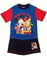 Toddlers Pyjamas Kids Baby Boy Disney Mickey Mouse Pjs Set Childrens Short Pjs P'js Kids Size UK 1-4 Years