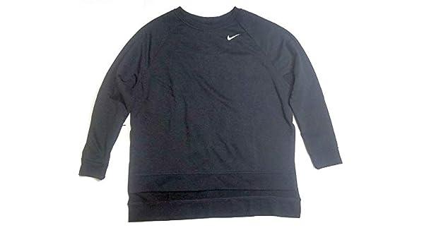 d91c2e2925eb00 Nike Women s Dri-FIT Air Jordan AJ4307-010 Sportswear Black Sweatshirt Size  L  Amazon.co.uk  Clothing