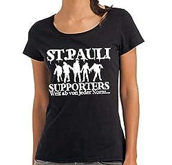 St. Pauli Ultras Fans The Supporters Zombies Punk Dead Witzig Damen Girls!!! (Large)