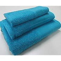 Confección Saymi Flor de Algodón Set Toalla 3 Uds. Panama 400 Gr Azul ...