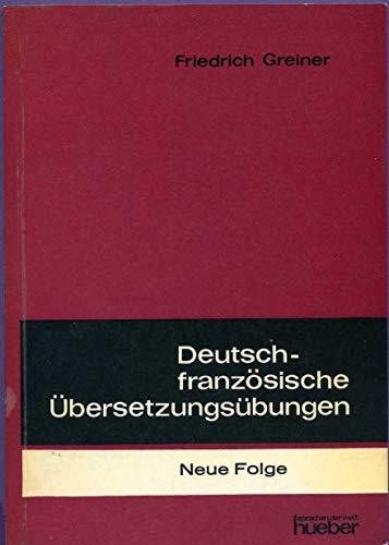 Deutsch-französische Übersetzungsübungen
