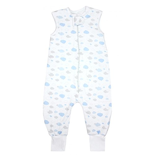 TupTam Baby Unisex Winter Schlafsack mit Beinen, Farbe: Wolken Grau/Blau, Größe: 92-98