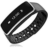 Welrock Samsung Galaxy 7102 Compatible Fitband | Smart Fitness Band With Heart Rate Monitor | Sensor | Pedometer | Sleep Monitoring Functions By Welrock (4Q-IIKA-DPRR OLED)