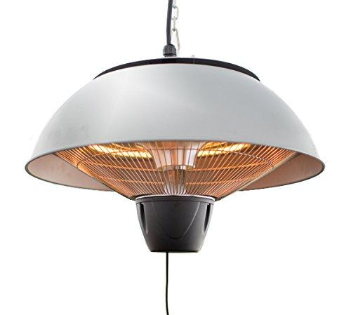 Firefly 1.500 Watt Infrarot-Heizstrahler (Halogen) Terrassenheizung, Deckenmontage, silber