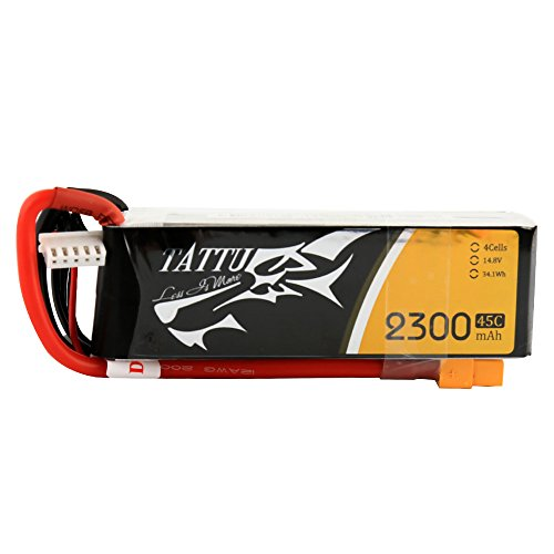 Tattu Batería LiPo 2300mAh 14.8V 45C 4S para Multicopteros FPV Racing Helicópteros...