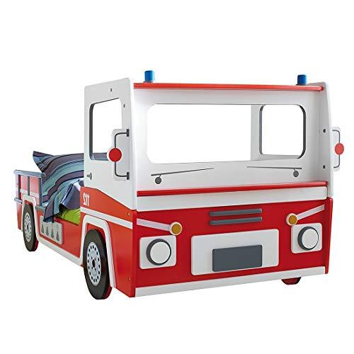 demeyere 3224 Feuerwehrbett SOS 112, MDF, 90 x 190-200 cm, rot/weiß - 2