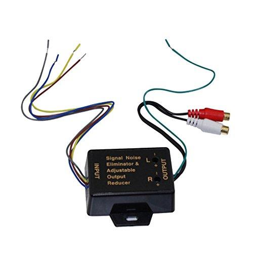 Gazechimp High Level Zu Low Level Converter, Autolautsprecher Audio Converter 2 Wege Verstellbarer Cinch Adapter HiFi Niederfrequenz-wandler