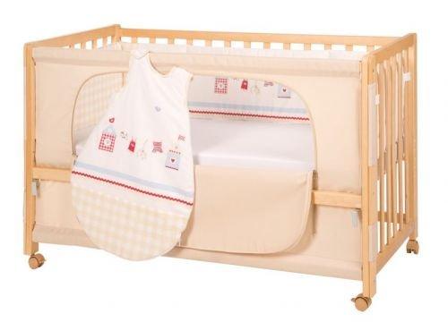 roba Roombed, Babybett 60x120 cm, Beistellbett zum Elternbett mit kompletter Ausstattung
