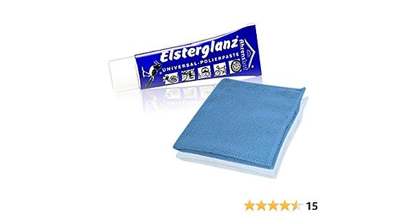 Helmecke Hoffmann Elsterglanz Universal Polierpaste Für Metalle Tube 40 Ml Mikrofaser Tuch Das Original Aus Deutschland Küche Haushalt