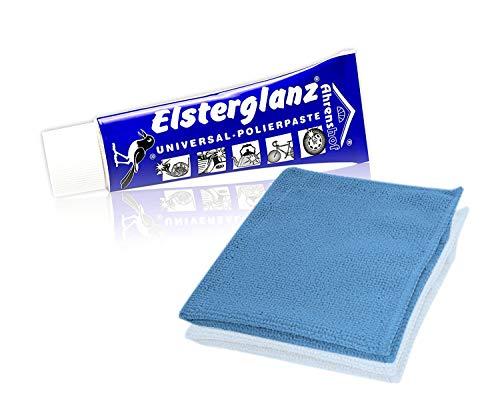 Helmecke & Hoffmann * Elsterglanz Universal-Polierpaste für Metalle Tube 40 ml + Mikrofaser-Tuch | Das Original aus Deutschland