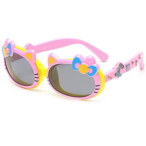 Mädchen Sonnenbrillen Niedlich Bogen Polarisiert Katzenohren Sonnenbrillen Kinder Deckel umdrehen Sonnenbrille 4-10