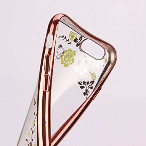 iPhone 7 Hülle Transparent,iPhone 7 Hülle Silikon,iPhone 7 Hülle Clear,iPhone 7 Hülle Glitzer,iPhone 7 Crystal Clear TPU Case Hülle Klare Ultradünne Silikon Gel Schutzhülle Durchsichtig Rückschale Etu TPU 122