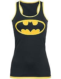 Batman Logo Top Femme noir