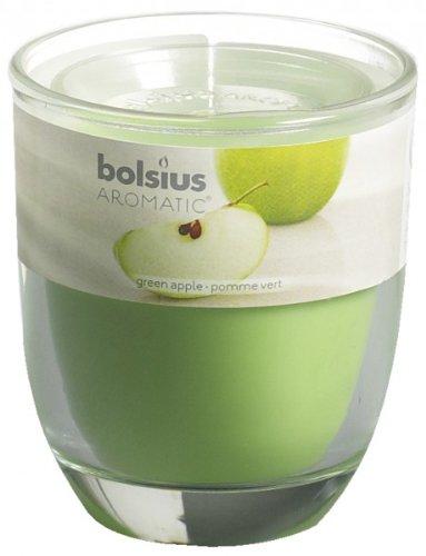 Bolsius Duftglas gefüllt 80/70mm grüner Apfel