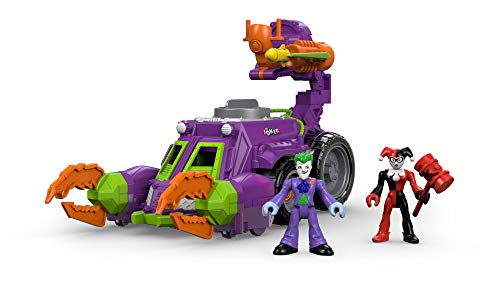 76f237474956 Imaginext DWV56 Joker and Harley Quinn Battle Vehicle Toy with Joker and  Harely Quinn Figures